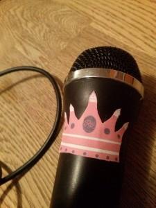 Mikro mit Krone !  Filtert royal und rosa...