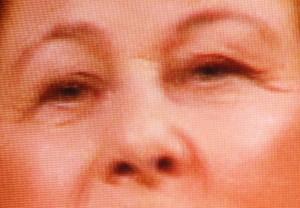 Rita Knobel-Ulrich beim Sich-Empören (Bildschirmfoto)