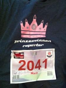 Embedded dabei: Marit Hofmann für die Prinzessinnenreporter mit Startnummer 2041