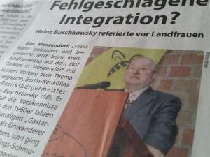 Fehlgeschlagene Berichterstattung? - Ausriss aus: Kreiszeitung Elbe-Geest Wochenblatt vom 17.5.2017